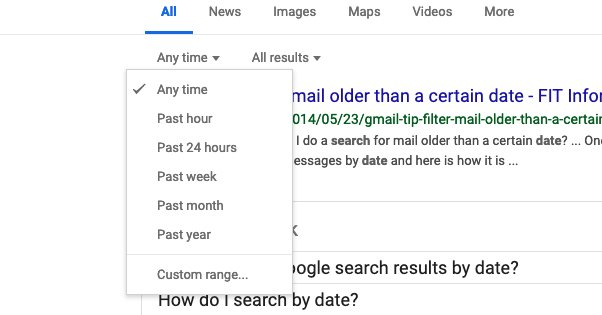 Google Date Searches