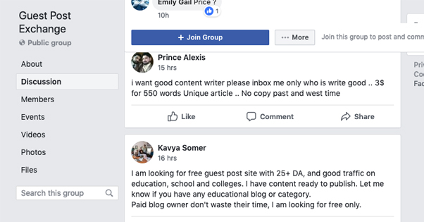 Guest Post Exchange Group