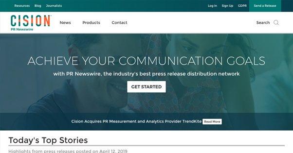 PR Newswire Homepage