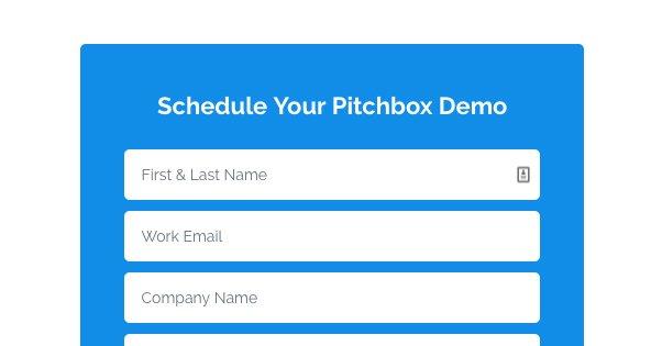Schedule Pitchbox Demo